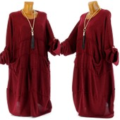 Robe Femme Laine Boh�me Poches Hiver Grande Taille - Farinelli - Charleselie94