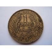 Tunisie 1 Franc 1945
