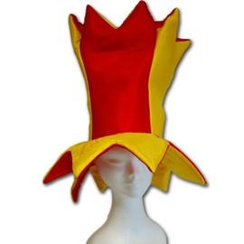 Chapeau D�guisement De Bouffon Jaune Et Rouge