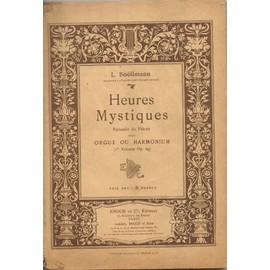 HEURES MYSTIQUES Receuils de pièces pour orgue ou harmonium