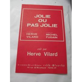 2 partitions : Hervé Vilard / Jolie ou pas jolie - Il reviendra ce très joli bateau