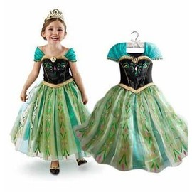 Robe Anna La Reine Des Neiges D�guisement Costume Princesse Frozen Enfant Qualit� Premium