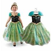 Robe Anna La Reine Des Neiges D�guisement Costume Princesse Frozen Enfant Qualit� Premium