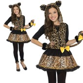 Maboobie Fille 12-14 Ans Costume Deguisement Complet Panth�re L�opard Animal Print Capuche Legging Noel Carnaval