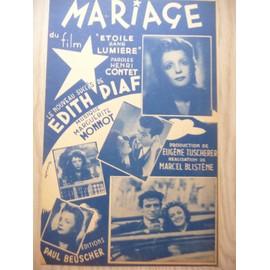 Mariage  Edith Piaf
