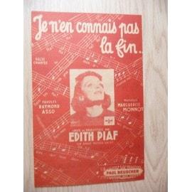 Je n'en connais pas la fin  Edith Piaf