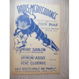 PARIS-MEDITERRANEE  Edith Piaf