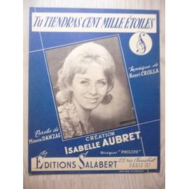 tu tiendras cent mille étoiles Isabelle AUBRET
