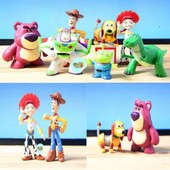 8 Figurines Personnages Toy Story Buzz Woody Jesse Et Leurs Amis