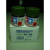 Tamiya Color Acrylic Paint Xf 58 Olive Green Lot De Deux Pots De 10 Ml