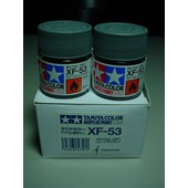 Tamiya Color Acrylic Paint Xf 53 Neutral Grey Lot De Deux Pots De 10 Ml-Tamiya