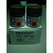 Tamiya Color Acrylic Paint Xf 62 Olive Drab Lot De Deux Pots De 10 Ml-Tamiya