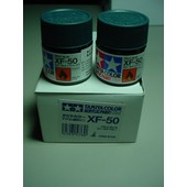 Tamiya Color Acrylic Paint Xf 50 Light Blue Lot De Deux Pots De 10 Ml-Tamiya