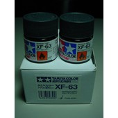 Tamiya Color Acrylic Paint Xf 63 German Grey Lot De Deux Pots De 10 Ml-Tamiya