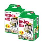 Fujifilm Instax Mini Film-Bundle (Lot de 40 Photos)