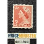 Australie.. Australia 3 1/2d Elisabeth I I . Non Oblit�r� .