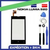 Vitre �cran Tactile Nokia Lumia 520 Noir Sans Logo + Outils