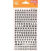 Decadry Lettres Et Chiffres Transferts (1 Feuille) Dd4f 6 Mm Noir