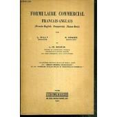 Formulaire Commercial Francais-Anglais de GILLY L. - HAWES H. - BOIRIN L.-M.