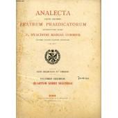 Analecta Sacri Ordinis Fratrum Praedicatorum, Anno Xix & Xx, Vol. X, Indices de COLLECTIF