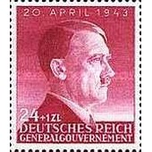 Pologne, Occupation Allemande, 1943, General Gouvernement, 54�me Anniversaire Chancelier Hitler, Yv. 113, Neuf** Luxe