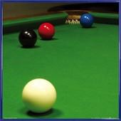 Poster Reproduction Encadr�: Billard - Snooker, Stiuation Free Ball (40x40 Cm), Cadre Plastique, Bleu
