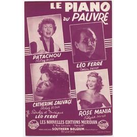 le piano du pauvre (1954) / Léo ferré, patachou, catherine sauvage, les garçons de la rue, lucien jeunesse, etc.
