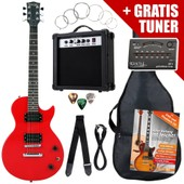 Rocktile L-Pack Guitare �lectrique Red Incl. Ampli, Housse, Accordeur, C�ble, Sangle, �cole Cd/Dvd