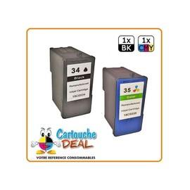 Lexmark 34 / 35 Xl Lot 2 Cartouches Compatible Lexmark X2500 X2510 X2530 X2550 X3300 X3310 X3330 X3350 X3430 X3500 X3530 X3550