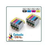 Epson T0715 :Lot 8 Cartouches Compatible Stylus Sx218 Sx400 Sx405 Sx410 Sx415 Sx510 Sx515 Sx600 Sx610 T0711 T0712 T0713 T0714