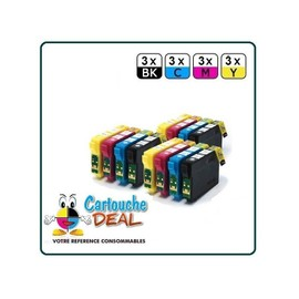 Epson T1295 : Lot 12 Cartouches Compatible Stylus Sx230 Sx235w Sx420w Sx425w Sx430w Sx435 Sx438 Sx440w Sx445w Sx525 Sx535 Sx620
