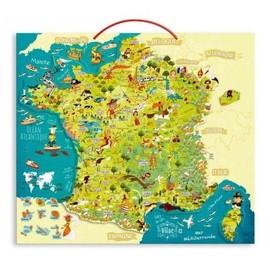 Puzzle 93 Pi�ces Magn�tique En Bois : Carte Des Merveilles De France