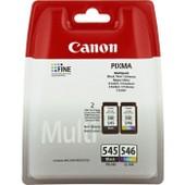 Canon 545 / Cl-546 Multipack - Cartouches D'encre Noir Et Couleurs (Cyan, Magenta, Jaune)