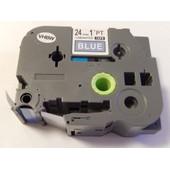 Cassette ? ruban vhbw 24mm pour Brother P-Touch 9800 PCN, E 500 VP, H 500, H 500 Li, P 700, RL 700 S comme TZ-555, TZE-555.
