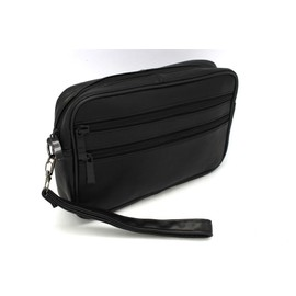 Sac Sacoche Pochette � Main Lani�re Cuir Homme Portefeuille Petite Maroquinerie