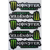 Planche Autocollant Stickers Monster Energy - 5 Pieces