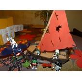 Playmobil : Lot De Pirates Fantomes En Arme Avec Bateau Et Raie Geante