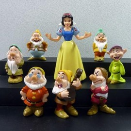 8 Figurines Personnages Blanche Neige Et Les 7 Nains
