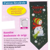 Patron Couture Broderie Modes Et Travaux N� 1381 : Banni�re Tombe La Neige