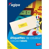 Agipa Lot De 3 Btes 100 �tiquette A4 210x297 Mm (1 X 100f A4) Multi-Usage Coin Droit Couleur Jaune