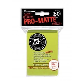 60 Pochettes / Prot�ges Cartes Small Pro-Matte Ultra Pro Jaune Vif