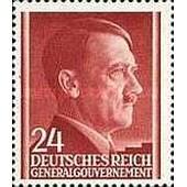 Pologne, Occupation Allemande 1941, Gouvernement General, Bel Exemplaire Yv. 89 - Chancelier Hitler 24 Gr. Brun, Neuf** Luxe