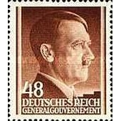 Pologne, Occupation Allemande 1941, Gouvernement General, Bel Exemplaire Yv. 93 - Chancelier Hitler 48 Gr. Brun, Neuf** Luxe