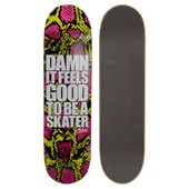 Skateboard Planche Seule Us Damn Snake Skin Chartreuse - Taille 8.2
