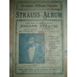 STRAUSS ALBUM SIXIEME ALBUM SUCCES POUR MANDOLINE VIOLON BANJO OU ACCORDEON.