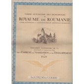 Obligation Ext�rieure Or 7% Du Royaume De Roumanie N�064846