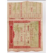 Exposition Coloniale_Bon � Lot De 60 Francs _S�rie 10 N�21814