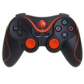 Contr�leur Manette Joystick Bluetooth Sans Fil Pour Console Noir+Orange Jeu