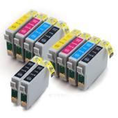 Pack 10 Cartouches Compatibles Epson T0715 - Stylus Sx400 2 Noir + 2 Gratuites Et 6 Couleurs