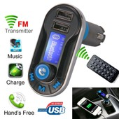 Bluetooth Car Mp3 Fm Wireless Transmitter Usb Lcd Charger Kit For Iphone 6 Ma323